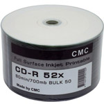 Диск CD-R 700Mb 52x BULK [CMC] inkjet printable [Sp50/600]