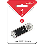 Накопитель USB Flash 4Gb SmartBuy V-Cut Black