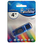 Накопитель USB Flash 4Gb SmartBuy Glossy series Blue