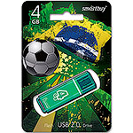 Накопитель USB Flash 4Gb SmartBuy Glossy series Green