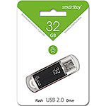 Накопитель USB Flash 32Gb SmartBuy V-Cut Black
