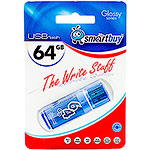 Накопитель USB Flash 64Gb SmartBuy Glossy series Blue