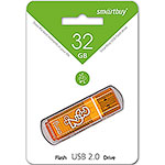 Накопитель USB Flash 32Gb SmartBuy Glossy series Orange