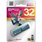 Накопитель USB Flash 32Gb Silicon Power Marvel M50 Blue USB 3.0