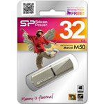Накопитель USB Flash 32Gb Silicon Power Marvel M50 Champagne USB 3.0