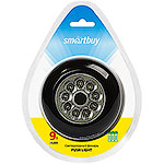 Фонарь PUSH LIGHT 9LED, 3xAAA, черный, Smartbuy [SBF-118-K]