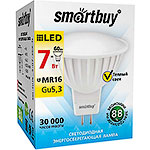 Лампа LED Smartbuy GU5.3/MR16, 7W, 3000K, 500Лм [SBL-GU5_3-07-30K-N]