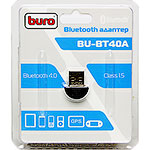 Адаптер USB Bluetooth BURO BU-BT40A, до 20 метров, ver 4.0+EDR class 1.5