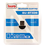 Адаптер USB Bluetooth BURO BU-BT40B, до 20 метров, ver 4.0+EDR class 1.5