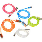 Кабель USB2.0 AM - Apple Lightning 8p, 1.0м, LuazON [2360702] прозр. силикон, металл. штекеры, МИКС