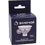 Лампа LED Включай MR16/GU5.3, 9W, 4000K, софит [LED OPTI MR16-9W-GU5.3-W]